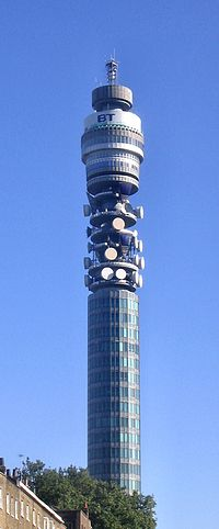 BT Tower from the Euston Road, looking south.