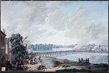 La battaglia del ponte di Lodi rappresentata in un dipinto di Louis Albert Bacler d'Albe