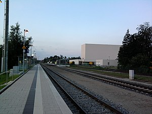 Mindelheim station - Image: Bahnhof Mindelheim 1