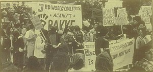 Regents of the Univ. of Cal. v. Bakke - Image: Bakke protest 1