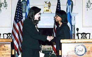 Dora Bakoyannis - Dora Bakoyannis with Condoleezza Rice, United States Secretary of State.