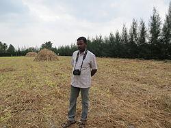Balaji at Casuarina field.JPG