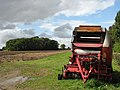 Baler parked in corner of ploughed field - geograph.org.uk - 567686.jpg