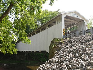 Banks Covered Bridge - Image: Banks Covered Bridge, northeastern angle