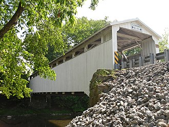 Banks Covered Bridge - Image: Banks Covered Bridge, northeastern angle