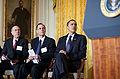 Barack Obama, Bob Greenstein & Mark Zandi 2-23-09.jpg