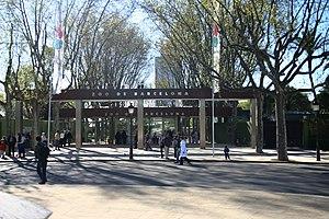 Barcelona Zoo - Zoo entrance