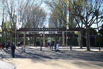 Barcelona Zoo - Zoo entrance