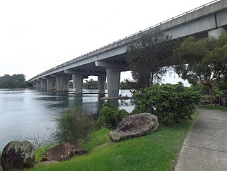 Pacific Motorway (Brisbane–Brunswick Heads) - Barneys Point Bridge over the Tweed River, 2017