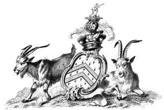 Bagot goat - Arms of the Barons Bagot, featuring the Bagot goat