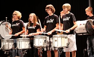 Barrie Central Collegiate Institute - Barrie Central Collegiate Drumline performing at 'Celebrate Central' 2010