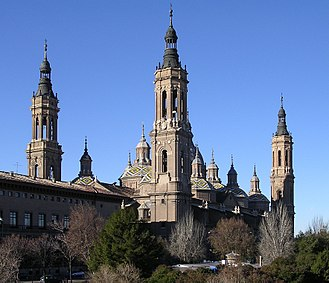 1987 Zaragoza Barracks bombing - Exterior of the Basilica of Our Lady of the Pillar, where the funerals took place
