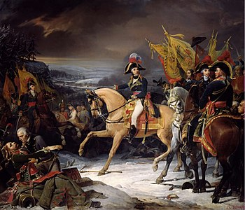 History painting of the Battle of Hohenlinden