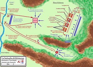 Battle of Idistaviso - The plain of Idistaviso and the battle between Romans and Germans.