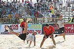 Match de beach soccer