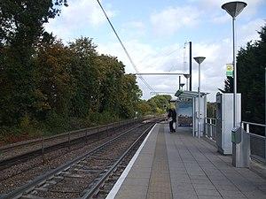 Beckenham Road tram stop - Image: Beckenham Road tramstop look east
