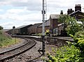 Bedale railway station, view to the west, Wensleydale Railway, North Yorkshire.jpg
