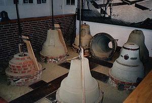 Bellfounding - Bell moulds in the bell museum (Glockenmuseum) in Gescher, Germany