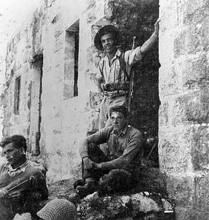"Beit Jann - Yiftach Brigade ""D"" Company Headquarters in Beit Jann. 1948"