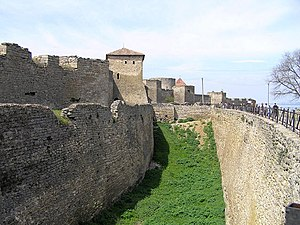 The fortress of Akkerman / Cetatea Albă (14th century), situated near the city of Bilhorod-Dnistrovskyi.