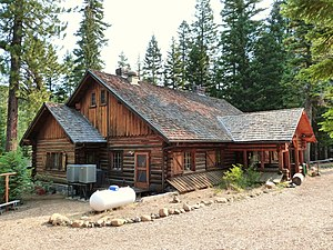 National Register of Historic Places listings in Deschutes County, Oregon - Image: Bend Skyliners Lodge Deschutes NF Oregon