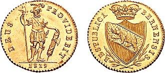 Berne frank - 16 Franken Duplone.