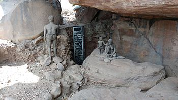 Bhimbetka rock shelter deposits.jpg