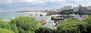Biarritz - Fishing port, beach, and lighthouse