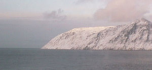 Big Diomede - Big Diomede seen from its nearest neighbor, Little Diomede
