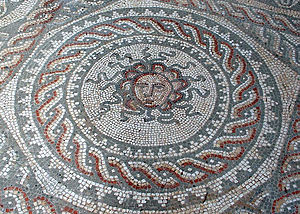 Bignor Roman Villa - Medusa mosaic
