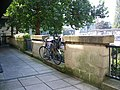 Bike on railings, Bath - geograph.org.uk - 987062.jpg