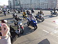Bikers on the Bolshoy Kamenny Bridge.JPG