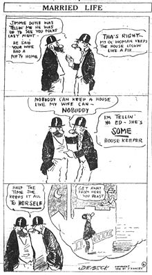 Early DeBeck comic strip