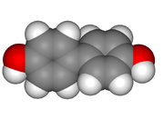 3D model of a 4,4'-biphenol molecule