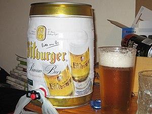 Bitburger Brewery - A 5L Mini Keg of Bitburger Pilsner