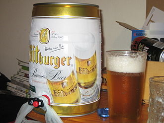 Bitburger Brewery - A 5L Mini Keg of Bitburger Pilsner