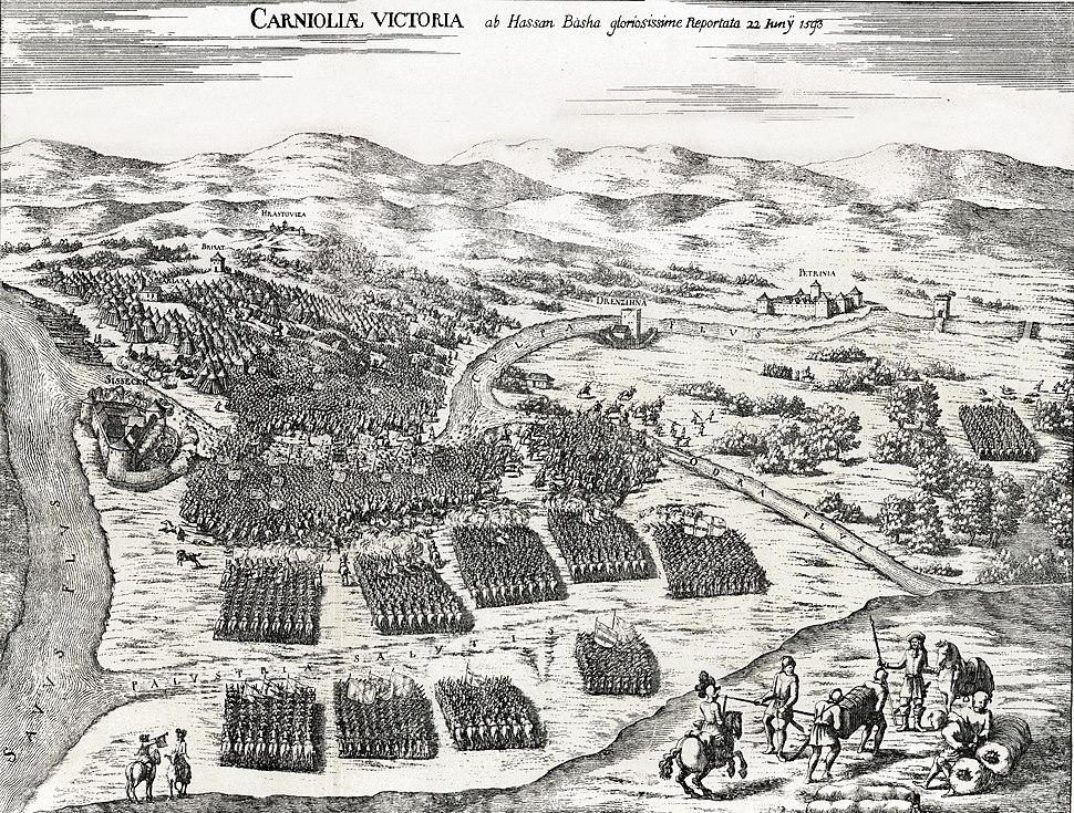 Bitka pri Sisku 1593-Valvasor