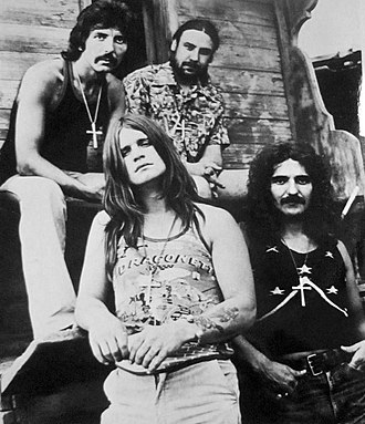Ozzy Osbourne - Osbourne (at the bottom left) with Black Sabbath in 1972