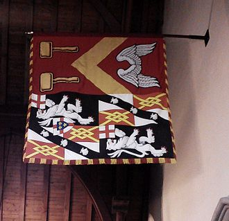 Mary Soames -  Lady Soames' Garter banner at St Martin's Church, Bladon