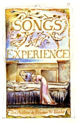 Songs of Innocence and of Experience - Blake's title plate (No. 29) for Songs of Experience