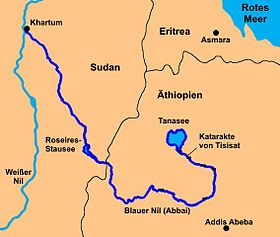 Carte Afrique Nil.Nil Bleu Wikipedia