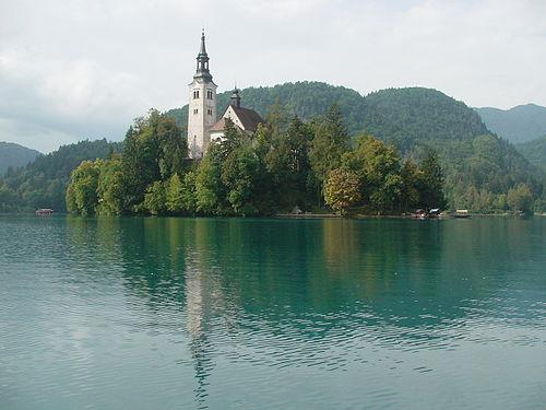 Bled island with church01