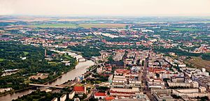 Saxony-Anhalt - View over Magdeburg, capital of Saxony-Anhalt