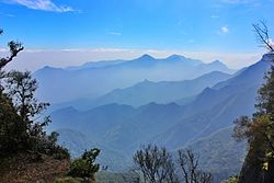 Panoramic view from Kodaikanal, 2008
