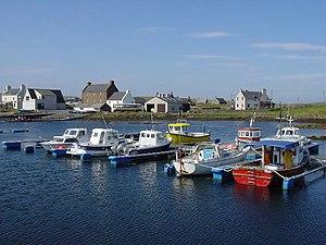 Walls, Shetland - Image: Boats at Walls geograph.org.uk 102390