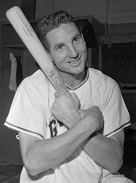 Bobby Thomson hit one of the most famous walk-off home runs in baseball history, the 'Shot Heard Round the World'. Bobby Thomson 1951.jpg