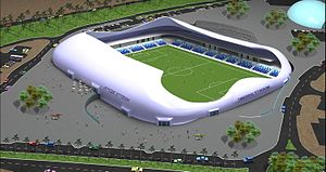 Moti Bodek - Tiberias Football Stadium (under construction)