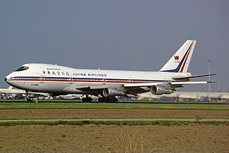 China Airlines - China Airlines Boeing 747–200 at Amsterdam Schiphol International Airport