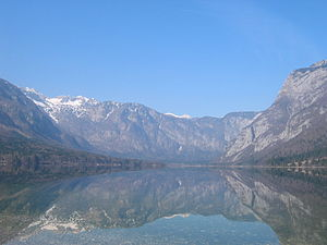 Komna - Komna Plateau rises west of Lake Bohinj