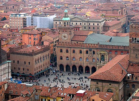 The University of Bologna in Italy, founded in 1088, is the oldest university, the word university (Latin: universitas) having been coined at its foundation. Bologna-vista02.jpg